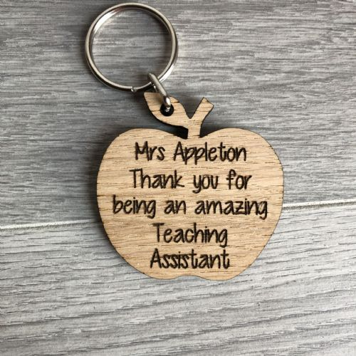 Thank you apple teaching assistant keyring **PERSONALISED**
